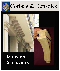 Corbels for Kitchens hand carved & consoles for building exteriors