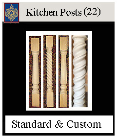 Kitchen posts made from hardwood custom sizes available