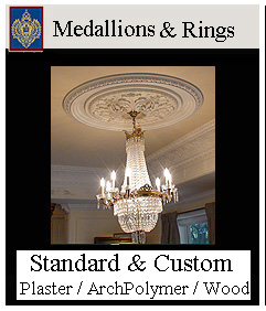 ceiling medallions - a major collection, multiple styles and shapes