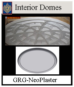 Interior domes, GRG-NeoPlaster, ArchPolymer, Custom sizes available