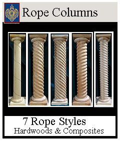 Rope Columns - 7 Styles Custom Sizes
