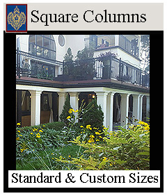 Square Columns Load Bearing and Decorative
