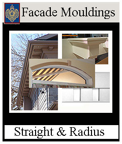 Mouldings - straight and curved for Facades