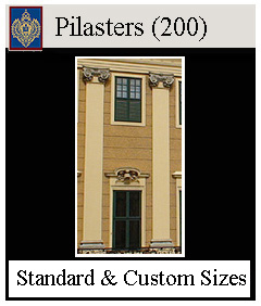 Pilasters for interior and exterior, custom sizes available
