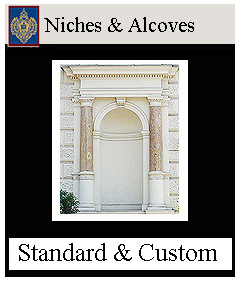 niches, alcoves and apse - custom sizes available