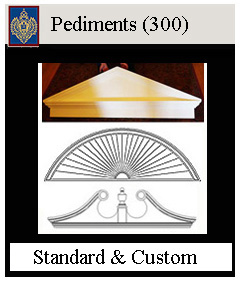 Pediments for doors and windows - custom sizes available