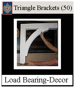 Triangle Brackets - Load Bearing & Decorative