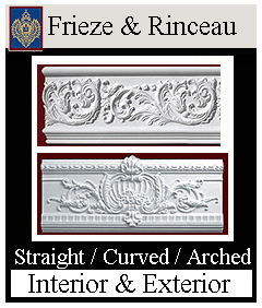 Decorative Frieze for Building exteriors and interiors